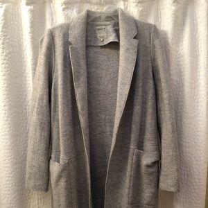 Light grey long blazer coat